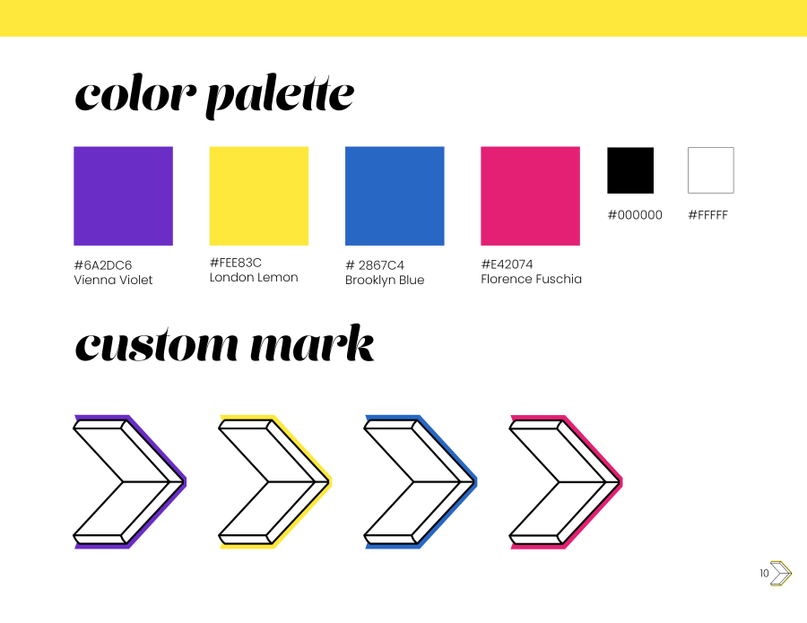 Color Palette and Custom Mark